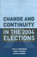 Change and Continuity in the 2004 Elections