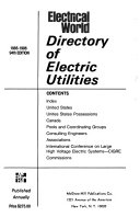 Electrical World Directory of Electric Utilities