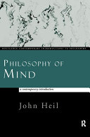 Philosophy of Mind  A Contemporary Introduction