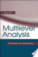 Multilevel Analysis Book PDF
