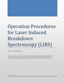 Operation Procedures for Laser Induced Breakdown Spectroscopy Book