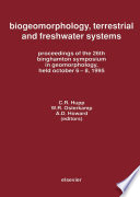 Biogeomorphology  Terrestrial and Freshwater Systems Book
