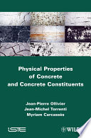 Physical Properties of Concrete and Concrete Constituents Book