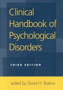 Clinical Handbook of Psychological Disorders  Third Edition Book PDF