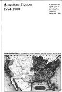 American Fiction  1774 1875