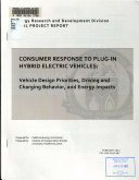 Consumer Response to Plug in Hybrid Electric Vehicles