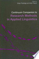 Continuum Companion to Research Methods in Applied Linguistics