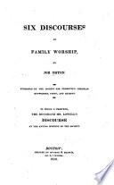 Six Discourses on Family Worship