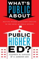What S Public About Public Higher Ed
