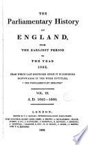 Cobbett S Parliamentary History Of England 1642 1660 Book