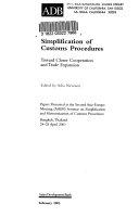 Simplification of Customs Procedures