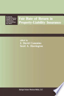 Fair Rate of Return in Property Liability Insurance Book