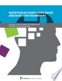 Deception in Court: Open Issues and Detection Techniques