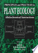 Principles and Practices in Plant Ecology Book