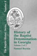 History Of The Baptist Denomination In Georgia