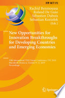 New Opportunities for Innovation Breakthroughs for Developing Countries and Emerging Economies Book