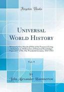 Universal World History  Vol  9 Book PDF