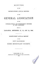 Minutes of the     Annual Meeting of the General Association of New Hampshire