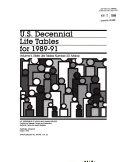 U S Decennial Life Tables For 1989 91 No 20