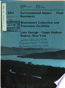 Environmental Impact Statement on Wastewater Treatment Facilities for the Lake George - Upper Hudson Region, New York