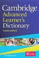 Cambridge Advanced Learner s Dictionary Fourth Edition