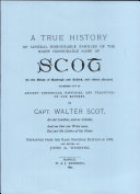 A True History of Several Honourable Families of the Right Honourable Name of Scott