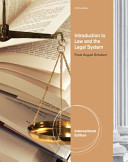 Introduction to Law and the Legal System Book