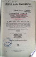 Study of Alaska Transportation  OCt 20  21  23  25  27  1961