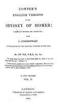 Cowper s English Version of the Odyssey of Homer  Carefully Revised and Corrected  with a Commentary in Explanation of the Practical Purpose of the Text  by               F R S   Etc   i e  L  Howard