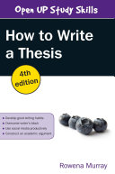 EBOOK  How to Write a Thesis