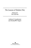 The Lessons Of Modern War  Volume Iv