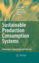 Sustainable Production Consumption Systems Book