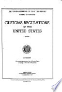 Customs Regulations of the United States Book PDF