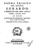 Poema tragico del español Gerardo, y desengaño del amor lascivo  : primera y segunda parte , Seite 2