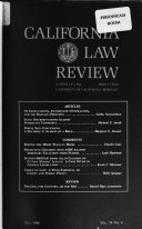 California law review Book
