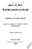 Schul- und Reise-Taschenwörterbuch der ungarischen und deutschen Sprache: Német-magyar rész