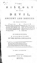 The History of the Devil  Ancient and Modern     A New Edition