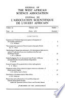 Journal of the West African Science Association