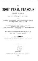 Théorie du Code penal par Ad. Chauveau et F. Hélie