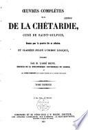 Oeuvres complètes de M. de La Chétardie,...