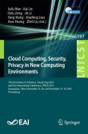 Cloud Computing  Security  Privacy in New Computing Environments