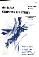 The Japan Christian Quarterly Book