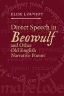 Direct Speech in Beowulf and Other Old English Narrative Poems
