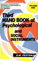 Third handbook of psychological and social instruments Book PDF