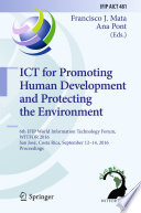 ICT for Promoting Human Development and Protecting the Environment Book
