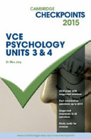 Cover of Cambridge Checkpoints VCE Psychology Units 3 And 4 2015