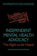 Independent Mental Health Advocacy   The Right to Be Heard