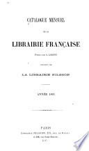 Catalogue mensuel de la librairie française