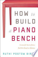 How To Build A Piano Bench