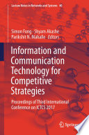 Information and Communication Technology for Competitive Strategies